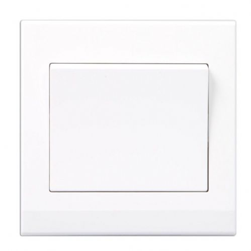 Simplicity White Screwless Rocker Light Switch 1 Gang 2 Way 07000